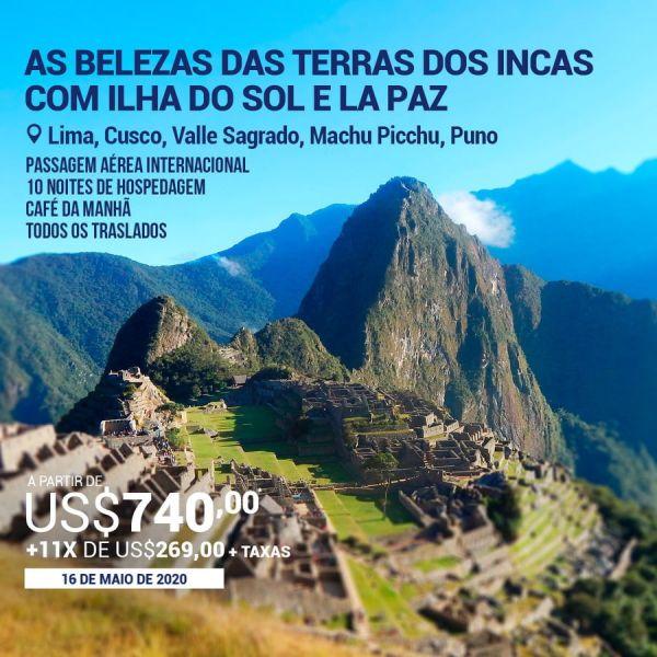 As Belezas das terras dos Incas com Ilha do Sol e La Paz